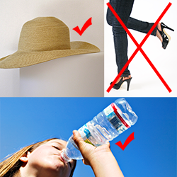 3 things you should not do on a hot sunny day