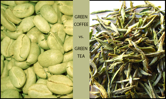green coffee vs. green tea