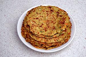 healthy breakfast idea salty pancakes